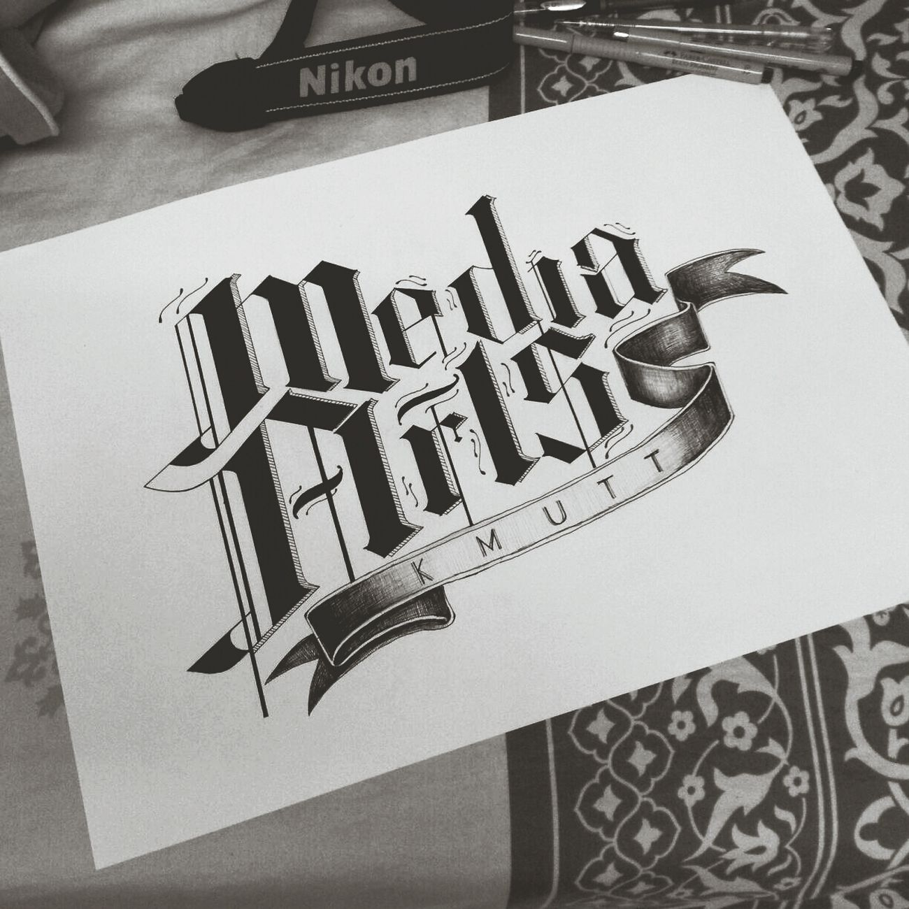 My Typography 'Media Arts KMUTT'