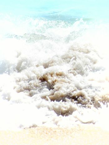 Beauty In Nature Water No People NatureOutdoors UnderSea Sand Sand & Sea Backgrounds Tranquil Scene Whitewash Seafoam Close-up Nature Close-up Motion Photography Waves, Ocean, Nature