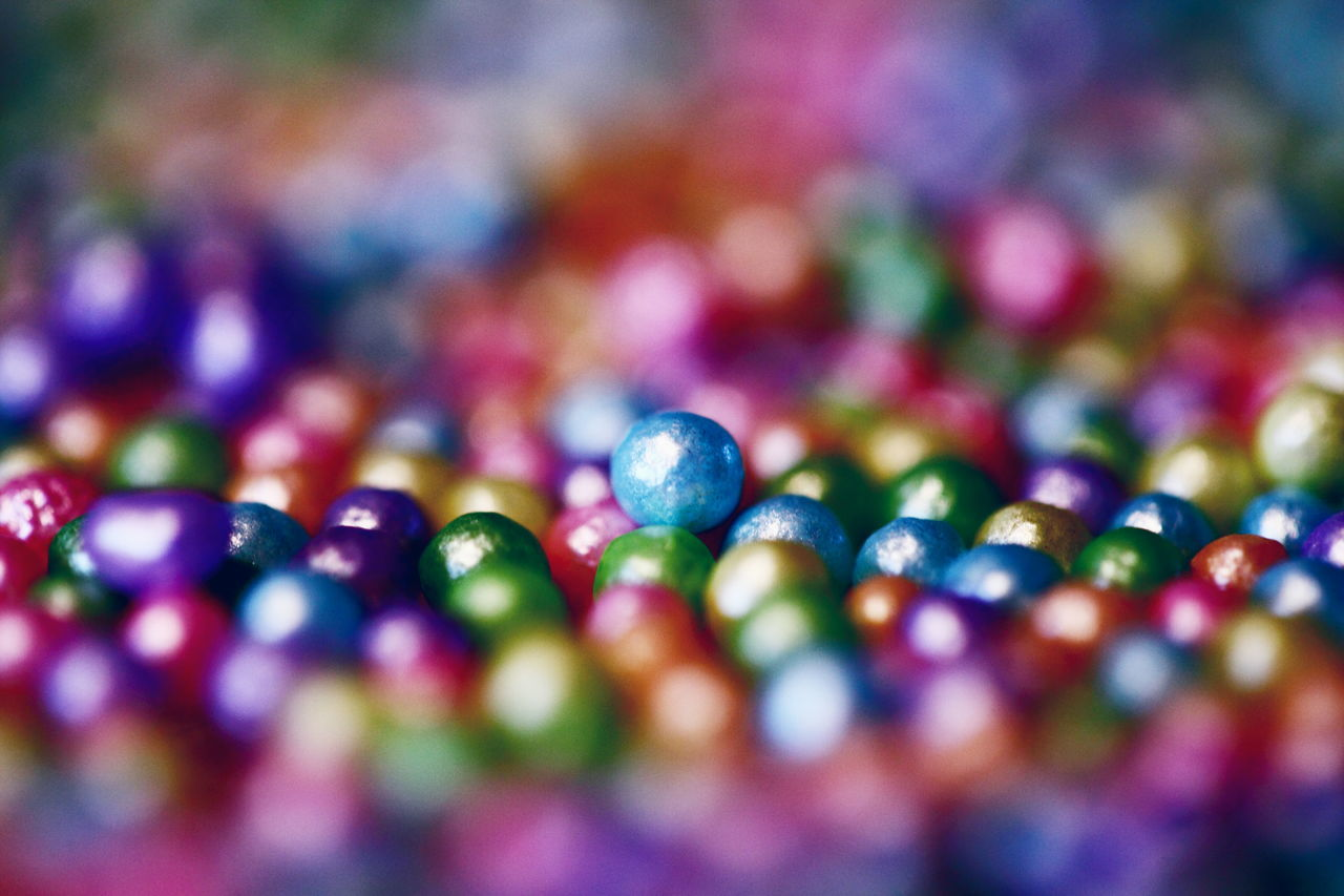 Bokeh Candy Canon Close-up Colorful Food Love Macro Marbles Multi Colored No People Party Rainbow Colors Round Selective Focus Shiny Sweet Food Tiny Vibrant Color