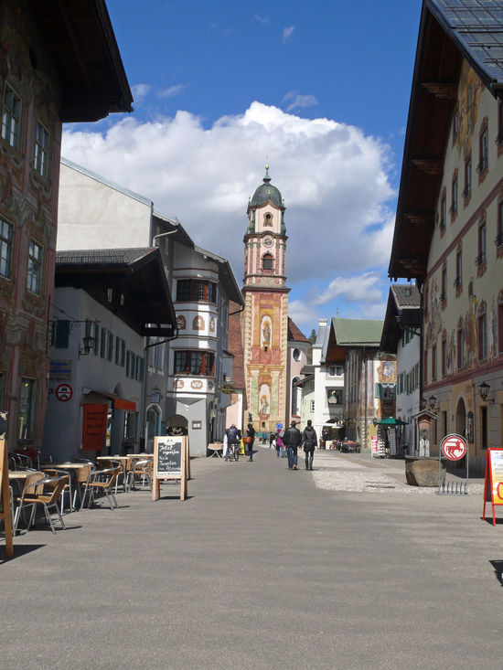Architecture Building Exterior Built Structure City Cityscape Clock Clock Tower Day Karwendel Karwendelblick Karwendelgebirge Large Group Of People Mittenwald Oberbayern Outdoors People Place Of Worship Police Station Religion Sky Spirituality Travel Destinations