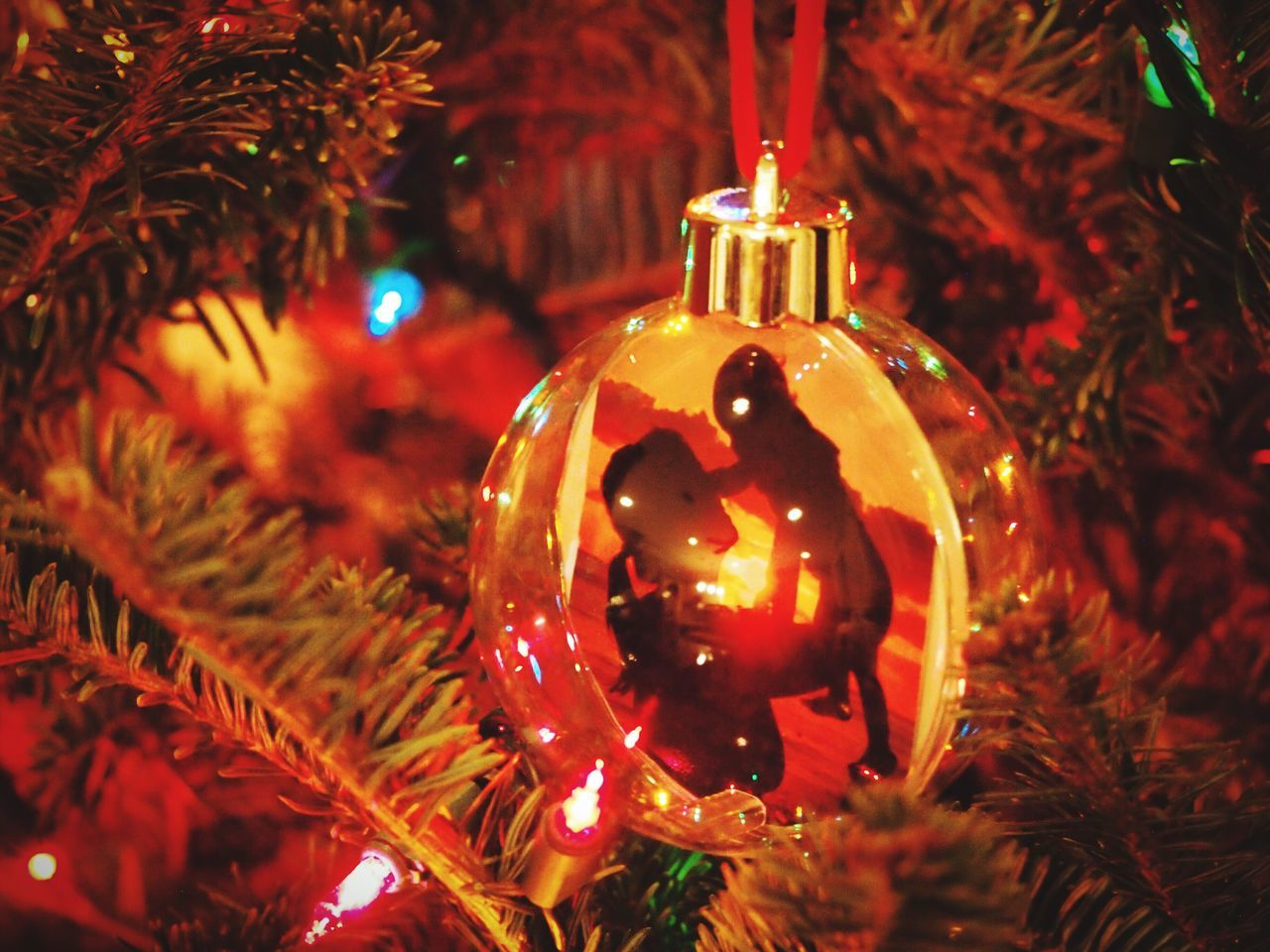 The Culture Of The Holidays Joy Of Life Joy JOY TO THE WORLD Mother And Child Light Up Your Life Light Of My Life Christmas Tree Christmas Lights Christmas Ornaments Ornaments Miracle Miracle Of Life Love Christmas Decoration Glowing Selective Focus Celebration Gratitude Wonder