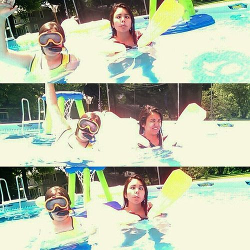 Pooltime Summertime Swimming Sillyfaces  Layoutoninstagram Layout