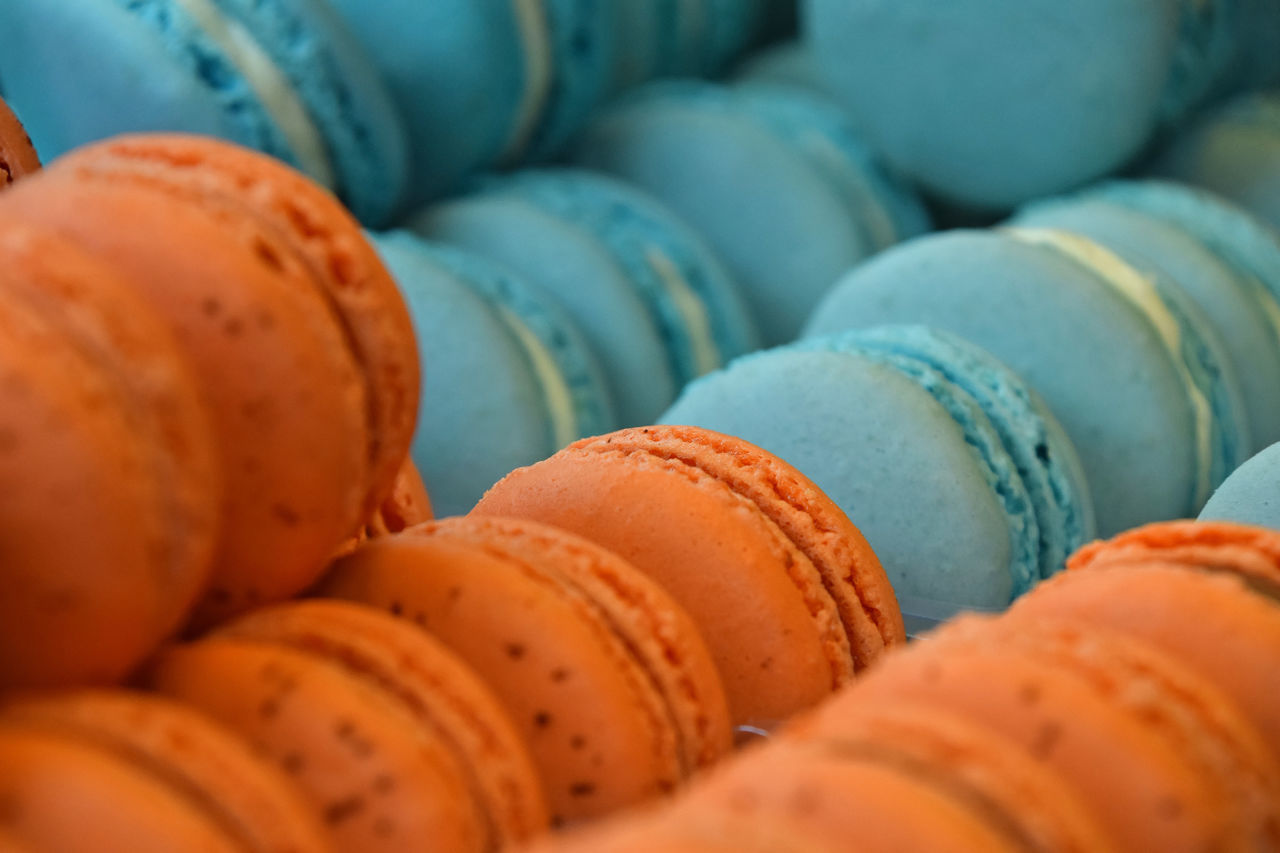 Those macaroon coocies are a true sweet temptation )) If not to eat than at least to shoot :)) Bakery Beautifully Organized Blue Choice Close-up Colorful Cookies Food Food And Drink Freshness Indulgence Large Group Of Objects Macaroni Macarons Macaroons Orange Color Pastry Personal Perspective Retail  Stack Sweet Temptation The Shop Around The Corner Vibrant Color Vivid