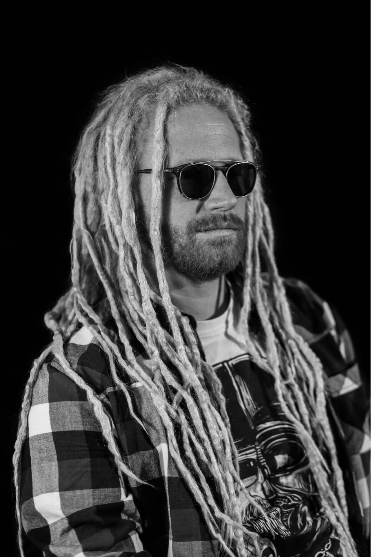 Black Background Sunglasses Portrait Looking At Camera Young Adult Adult People One Person Adults Only Men One Man Only Human Body Part RASTA Adult Silhouette Scenics Glasses Blonde