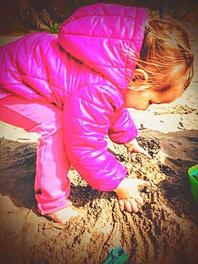 Beach Baby Sandcastle Building Sand Oregon Coast Lincoln City, Oregon Play Pretend Imagine 1yearago Blayklee Timeflies Unconditional Love Granddaughter Sweetheart♡♥