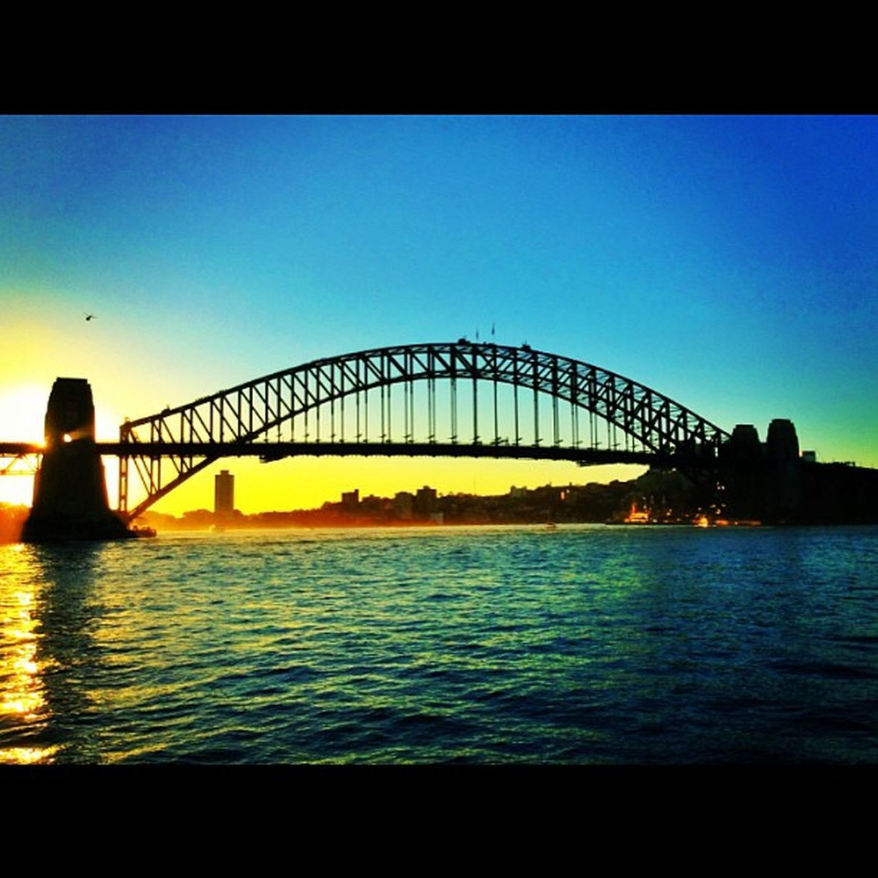 Landscape Landscape_shots Landscapehunter Iphonesia Igers IGDaily Instago Iphonesia Instanature Instagramhub Bridge Sydney Opéra Operahouse Evening Sunset Silhouette Shadow River Water Harm Sky Blue Sun