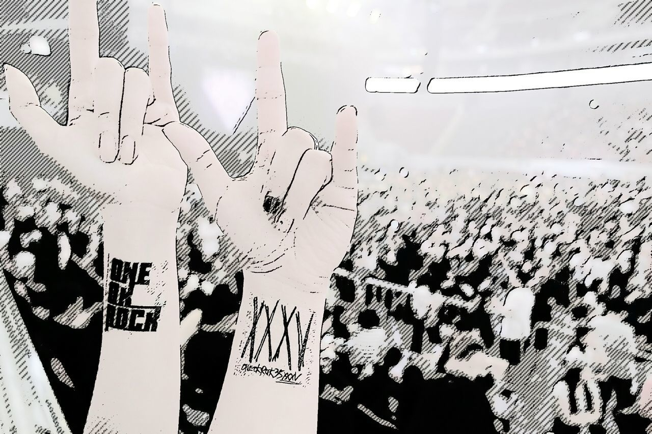 With my ONE OK ROCK concert buddy Rock'n'Roll ONE OK ROCK XXXV Concert Photography 35xxxv Taka Tomo Ryota Toru Japanese Rock JAPANESE BAND Concertphoto ROCK ON!