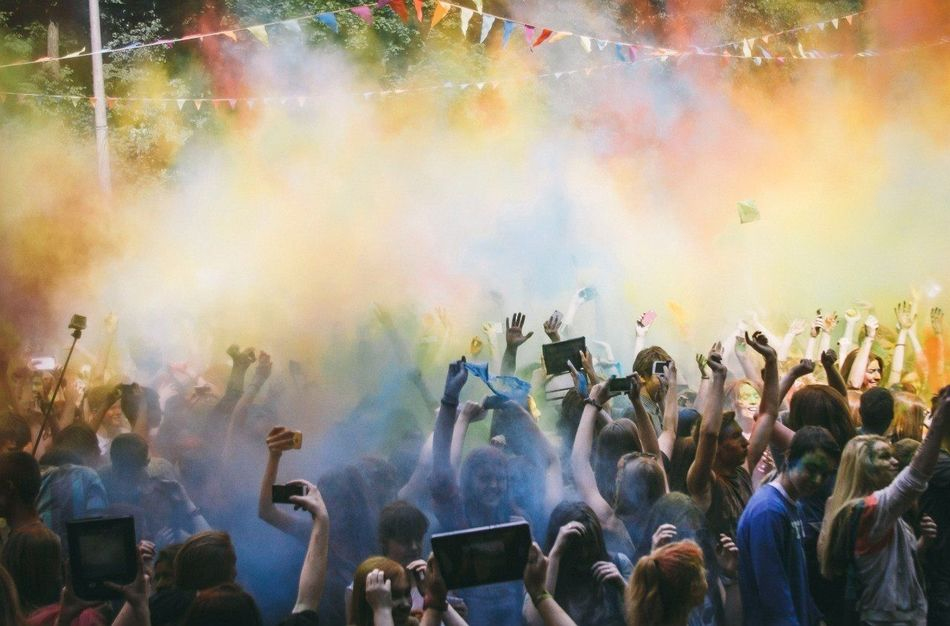 Beautiful stock photos of photographer, Celebration, Cellphone, Colorful, Crowd