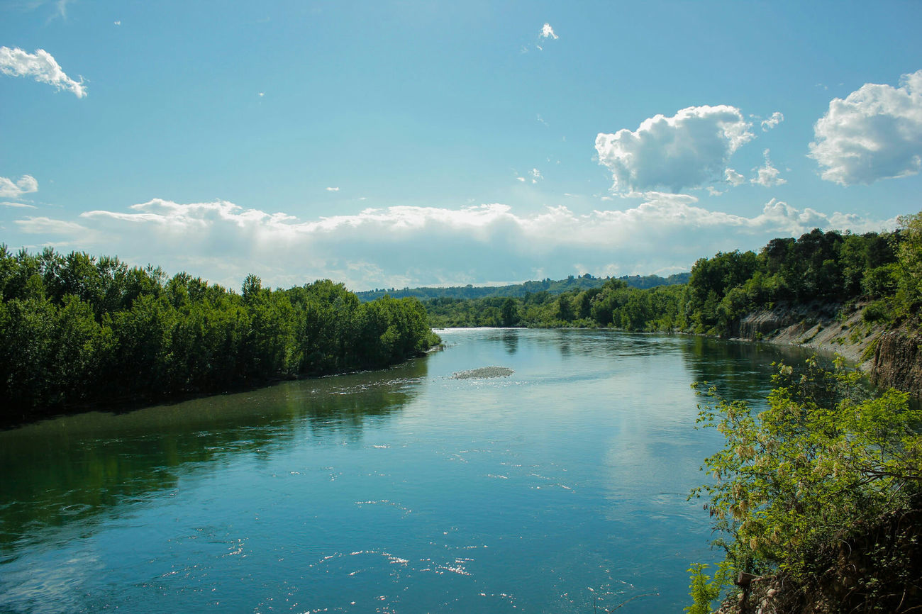 River Riverside River Curves Water Water Reflections Trees Ticino Ticino River Italy Italia Piemonte Canon550D Sky