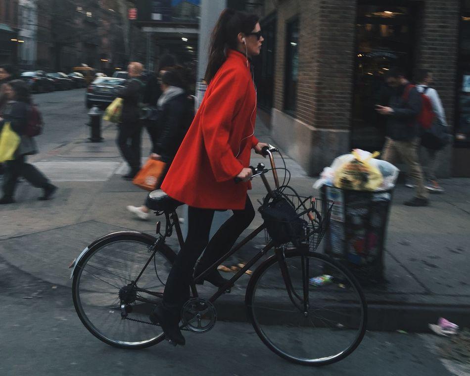 Bike New York NYC Street Portrait Of A Stranger Chelsea The Moment - 2015 EyeEm Awards