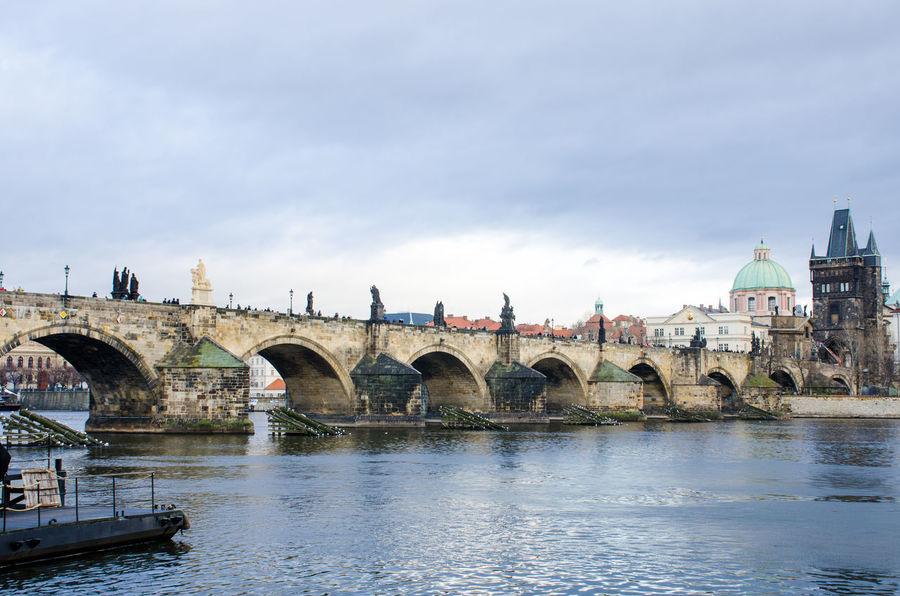 Charles Bridge Prague from Mala Strana Charles Bridge Prague Architecture Bridge - Man Made Structure Building Exterior Built Structure Citiscape  Travel Destinations Waterfront