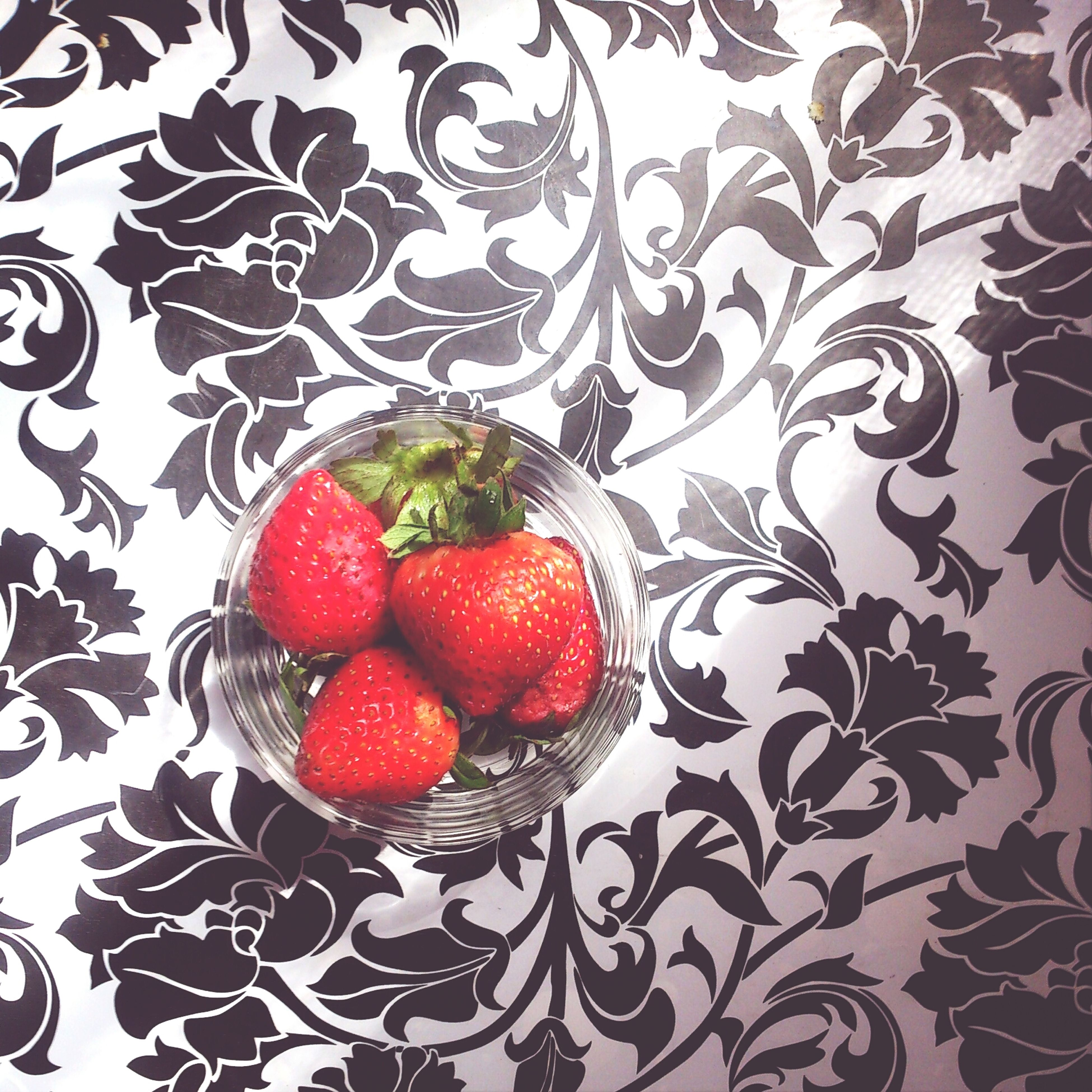 food and drink, fruit, indoors, red, food, table, freshness, healthy eating, still life, strawberry, high angle view, bowl, plate, directly above, no people, berry fruit, pattern, close-up, sweet food, cherry