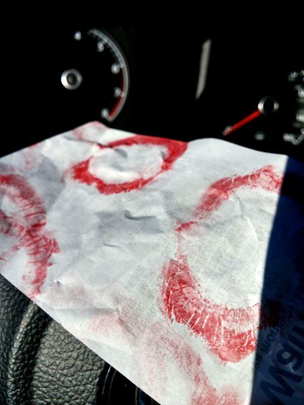 Paper View Lipstick Stained Nabijuju Nabij Xo Paperlove Showcase: December Red Lips 😚 Car Speedometer Receipt No Care