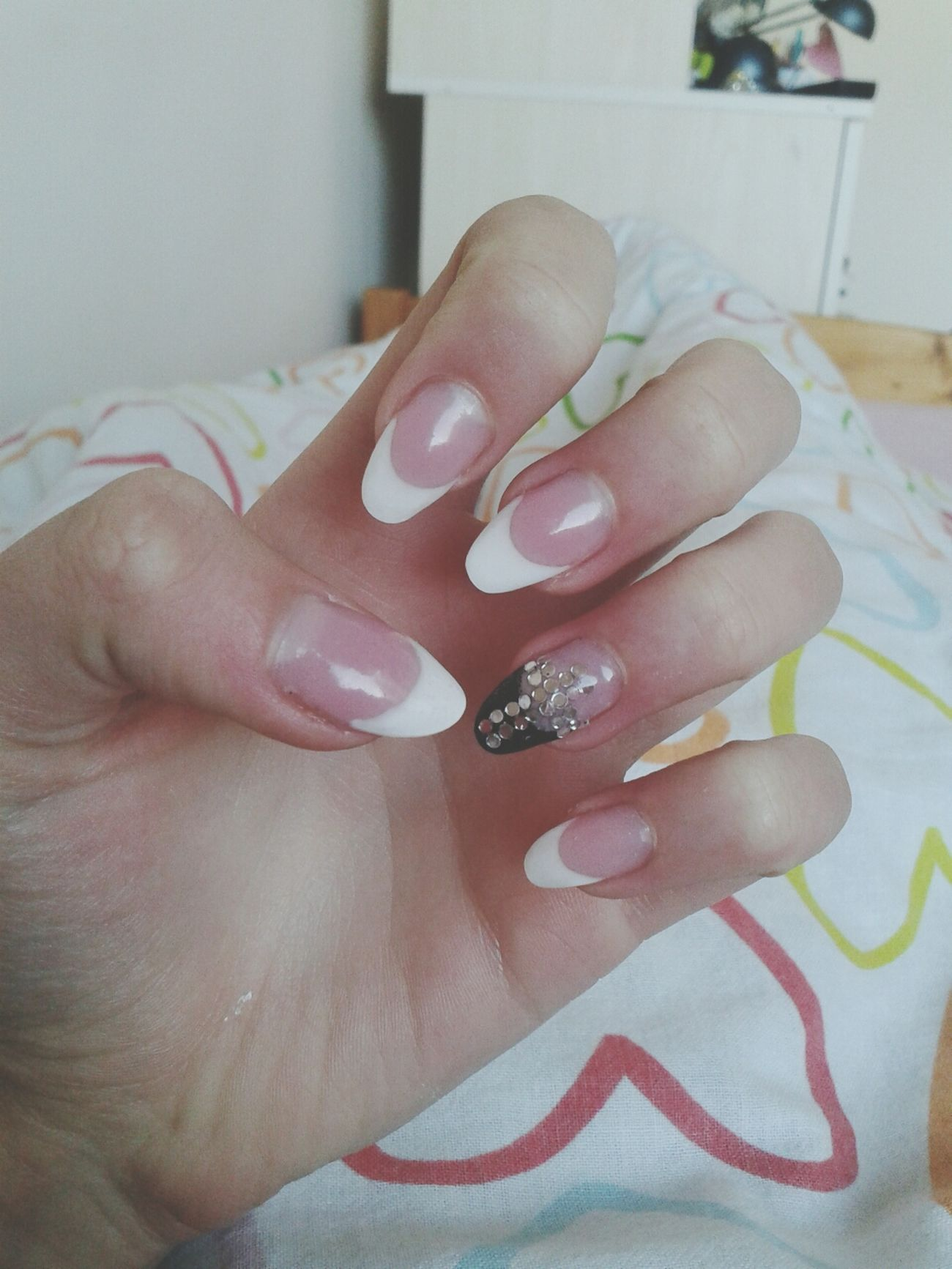 simple but cute Nails Frenchnails Simple Cute♡