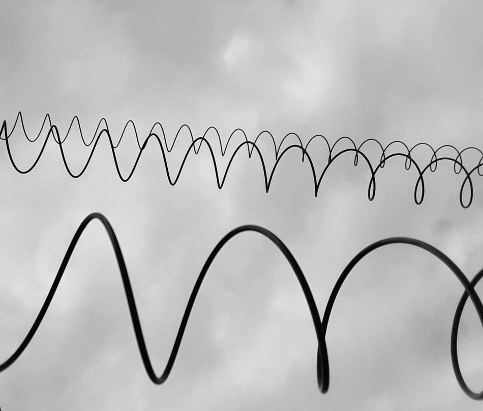 Einen Draht zueinander haben... oder 3 ;-) Connected Connection Wires Wires In The Sky Wire Art Technology Minimal Symbolism Symbolbild Sky Low Angle View Abstract No People Outdoors Copy Space Communication Pattern Nature