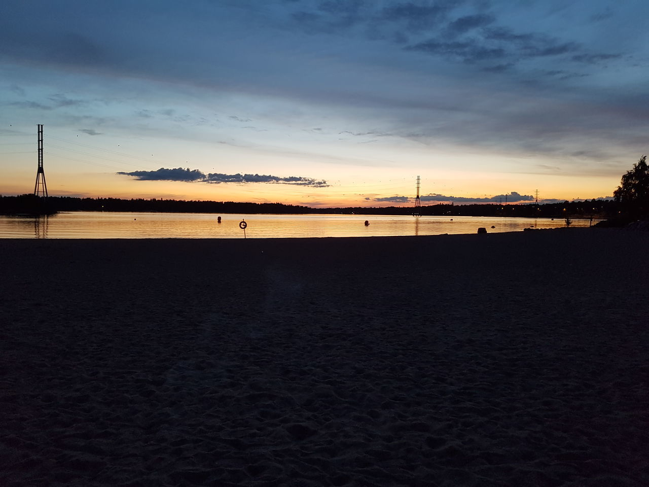 Beach Beauty In Nature Evening Evening Sky Finland Helsinki Hietaniemi Nature Sea Summer Tranquility No Filter