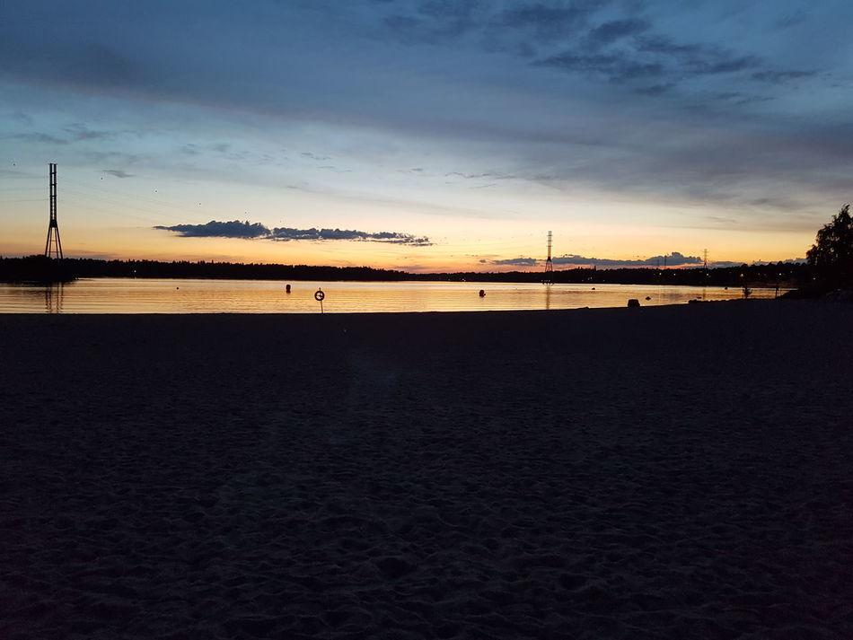Beach Beauty In Nature Evening Evening Sky Finland Helsinki Hietaniemi Nature Sea Summer Tranquility No Filter