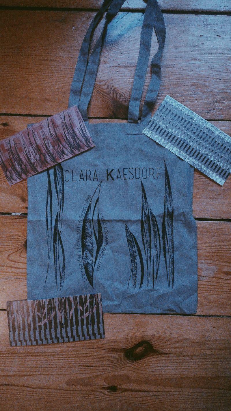 Thank you Clara! Goodie Bag from Clara Kaesdorf Faahionweek 2015 Berlin Berlinlife ClaraKaesdorf Thanks  Sustainability Fashion Design Jutebag Minimalism Chique