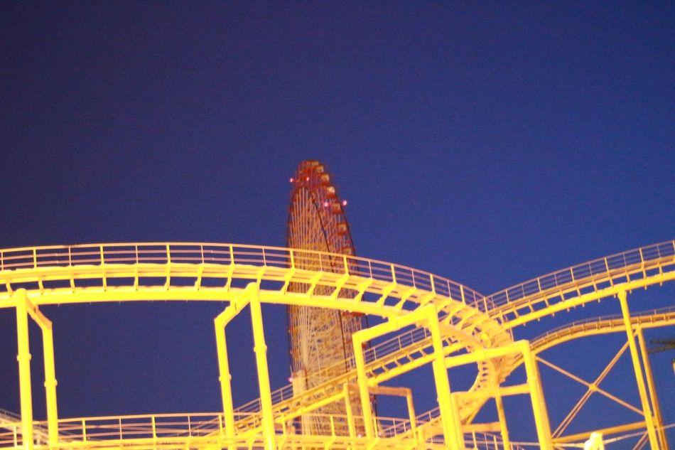 観覧車 遊園地 Amusement Park No People Day Night Blue Yellow Canon