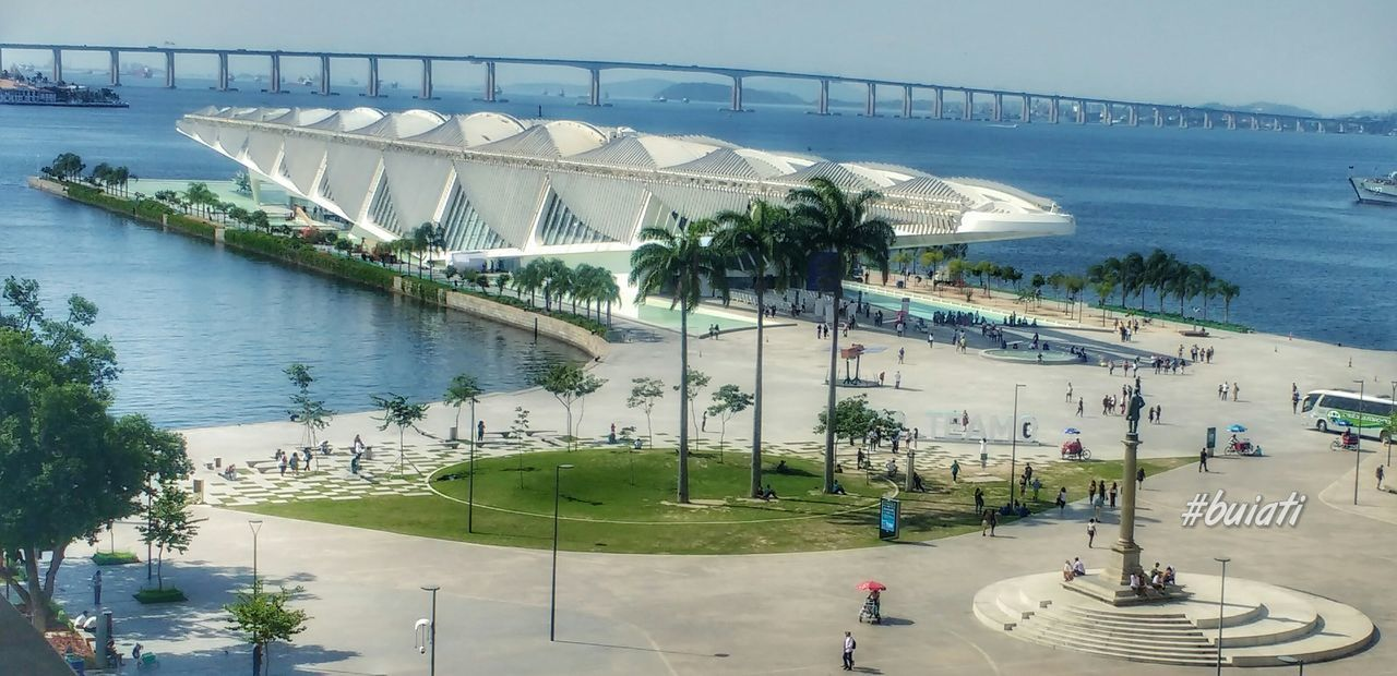Architecture City People Water Building Exterior Built Structure Sea Beach High Angle View Outdoors Day Tree Horizon Over Water Sky First Eyeem Photo