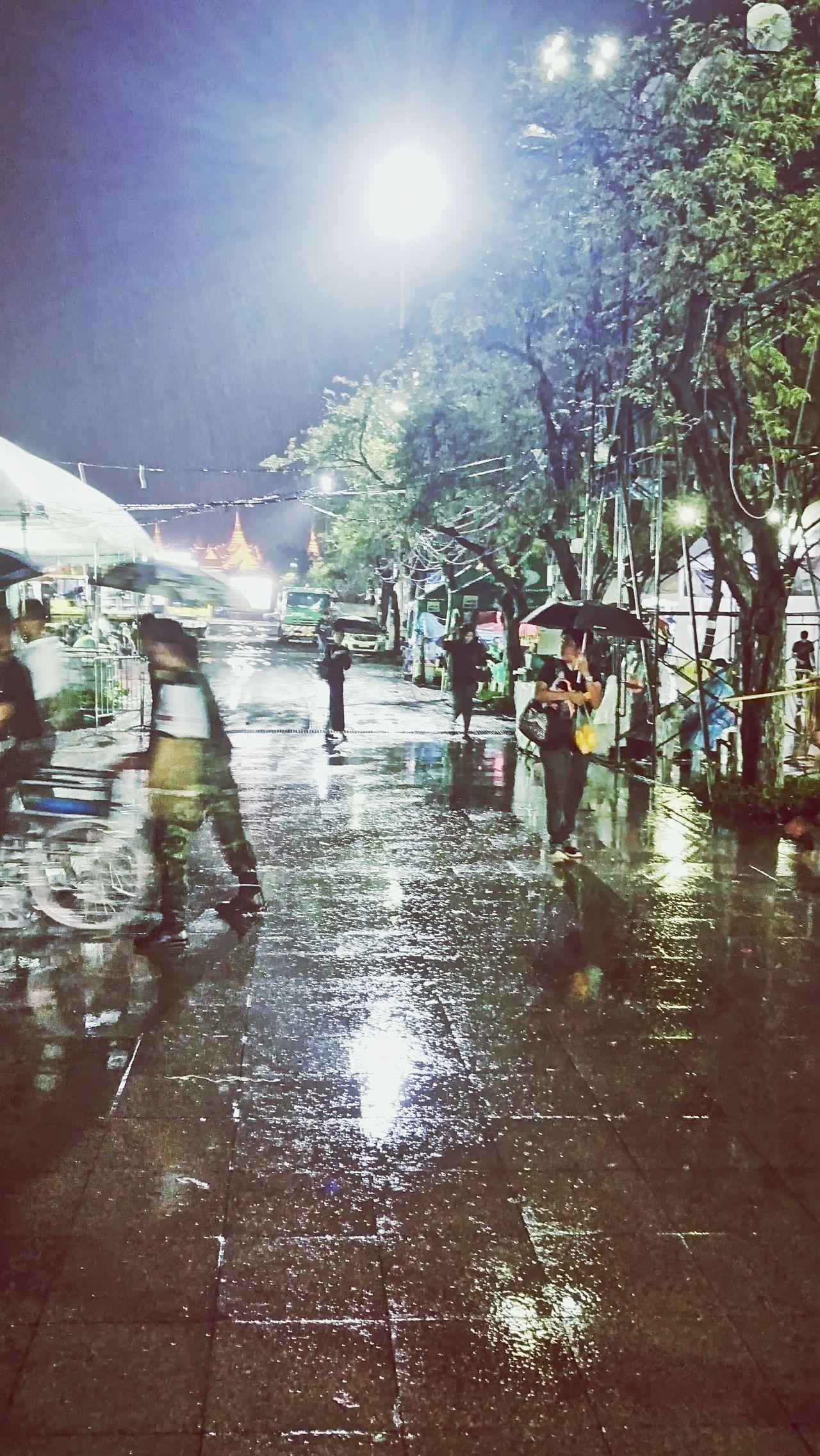 Raining Reflection Bangkok