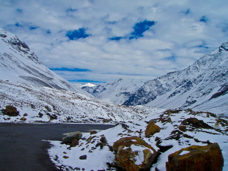 Road not Taken Snow Cold Temperature Cloud - Sky Nature Landscape Mountain Winter Beauty In Nature No People Outdoors