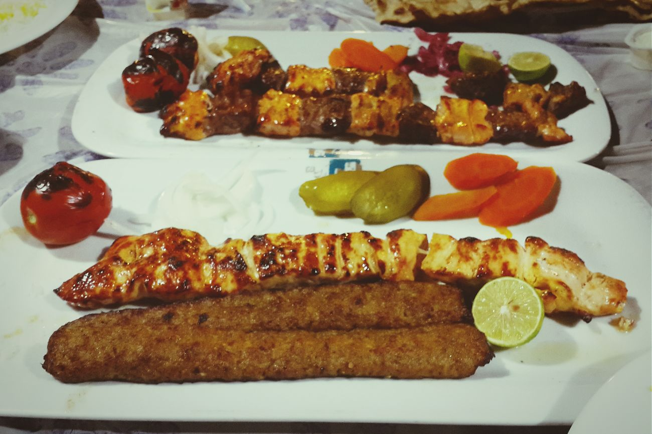 Food Porn Awards Chicken Kababs Kabab Koobideh Chelow Kabab Bakhtiyari Kabab Iranian Food Delicious Lunch or Diner in Iran