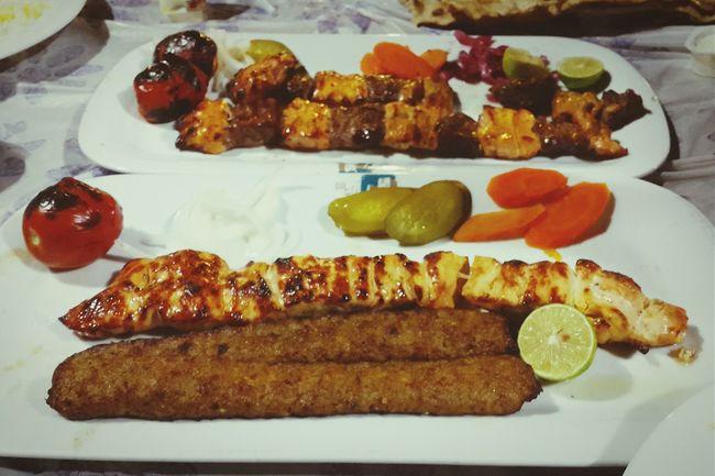Food Porn Awards Chicken Kababs Kabab Koobideh Chelow Kabab Bakhtiyari Kabab Iranian Food Delicious Lunch or Diner in Iran