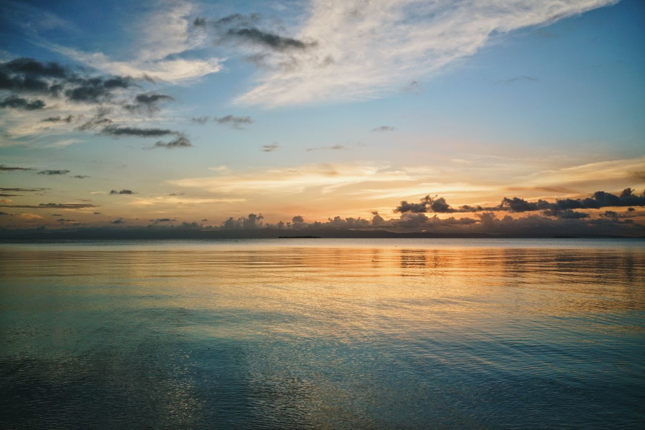 ASIA Beach Colorful Dusk Horizon Over Water INDONESIA Maluku  Moluccas Morotaiisland Nature No People Outdoors Reflection Scenics Sea Seaside Sun Sunset Tranquil Scene Travel Water