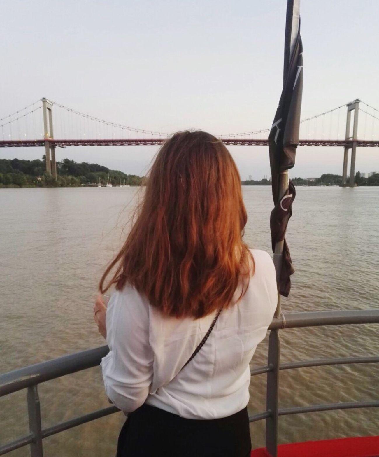 Girl Bordeaux Boat Diner Peaceful And Quiet Ginger Shorthair Garonne Lovemyjob