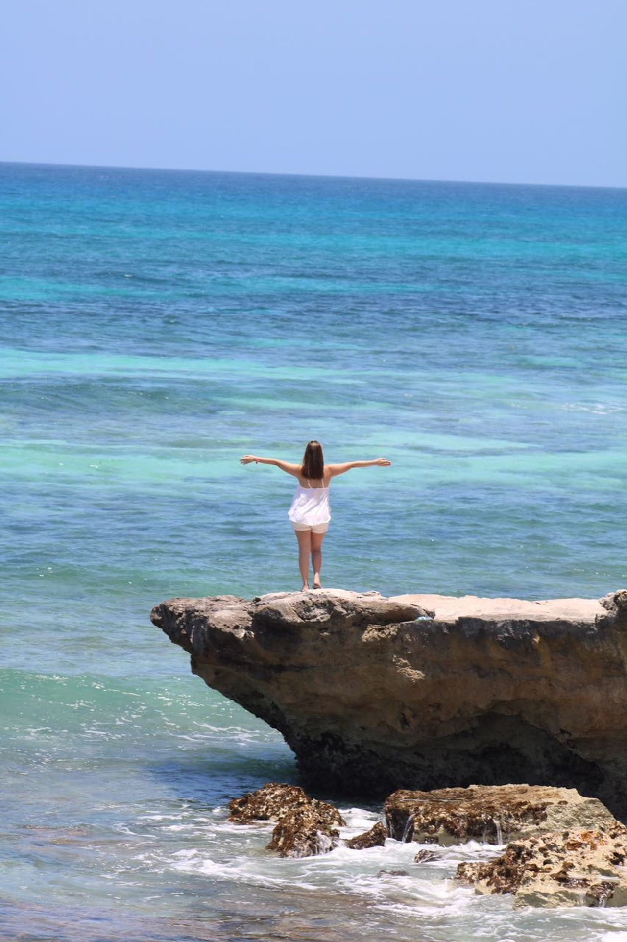 Breathing.. Beach Beach Life Beauty Beauty In Nature Clear Sky Freshness Happiness Healthy Lifestyle Horizon Over Water Isla Mujeres Isla Mujeres Mexico Leisure Activity Mexico Nature Outdoors Peaceful View Relaxation Sea Serene People Sky Tranquil Scene Water Women