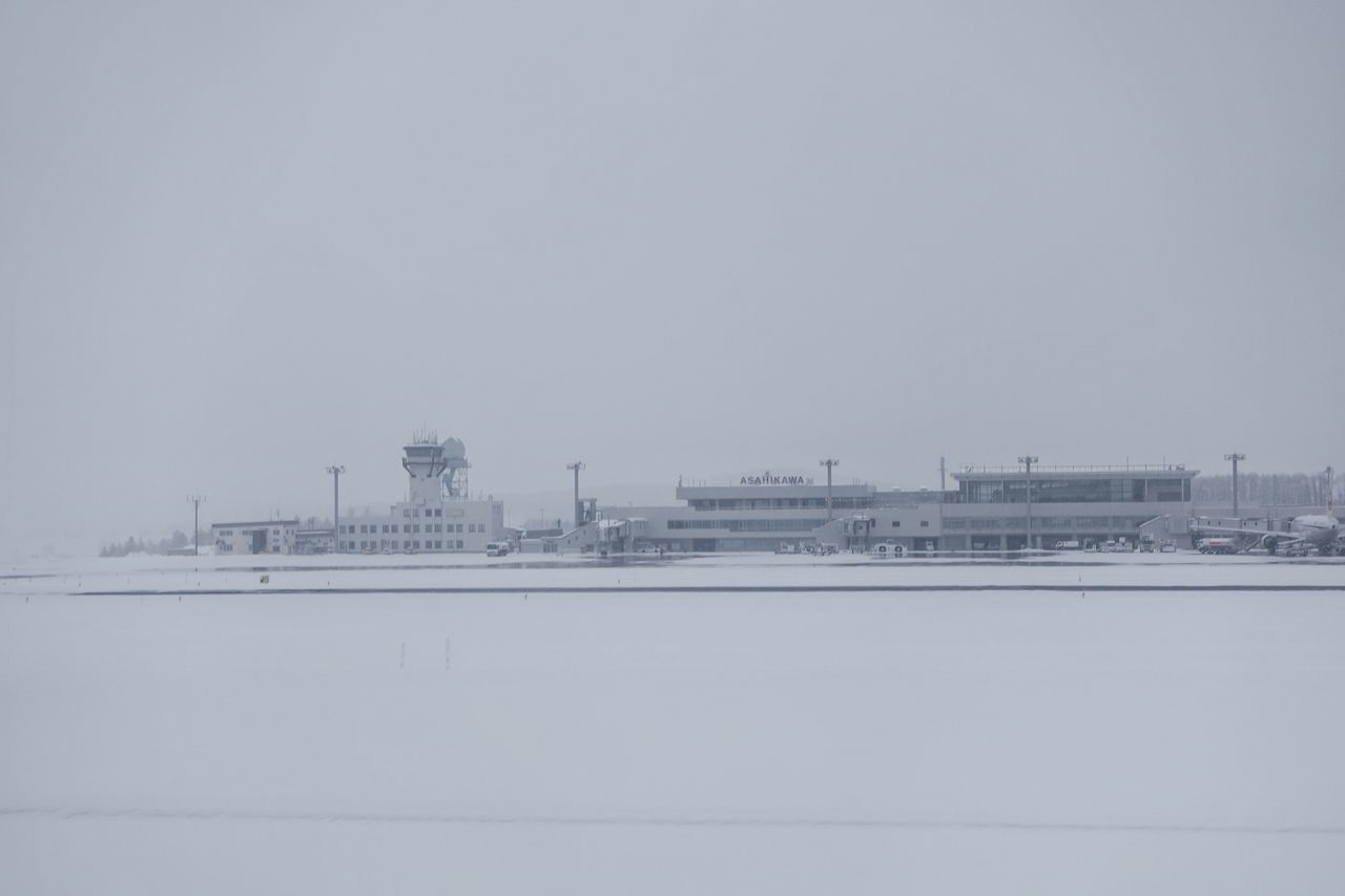 Japan Photos White Snow Covered Little Airport Landscape WHiTE WORLD Travel White Land Winter Wonderland Landscapes With WhiteWall From An Airplane Window Taking Photos Ultimate Japan Streamzoofamily