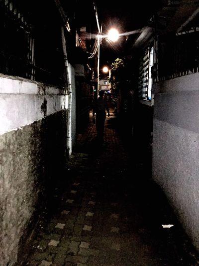 Night Street Light City Life Footpath