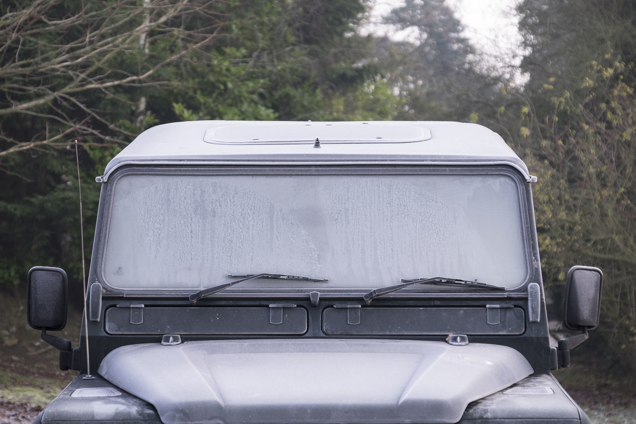 Frozen car in the morning Car Car Windscreen Defrosting Car Windshield Cold Car Cold Weather Frost Frosty Frosty Mornings Frozen Frozen Car Icy Window Land Rover Land Rover Defender Motoring
