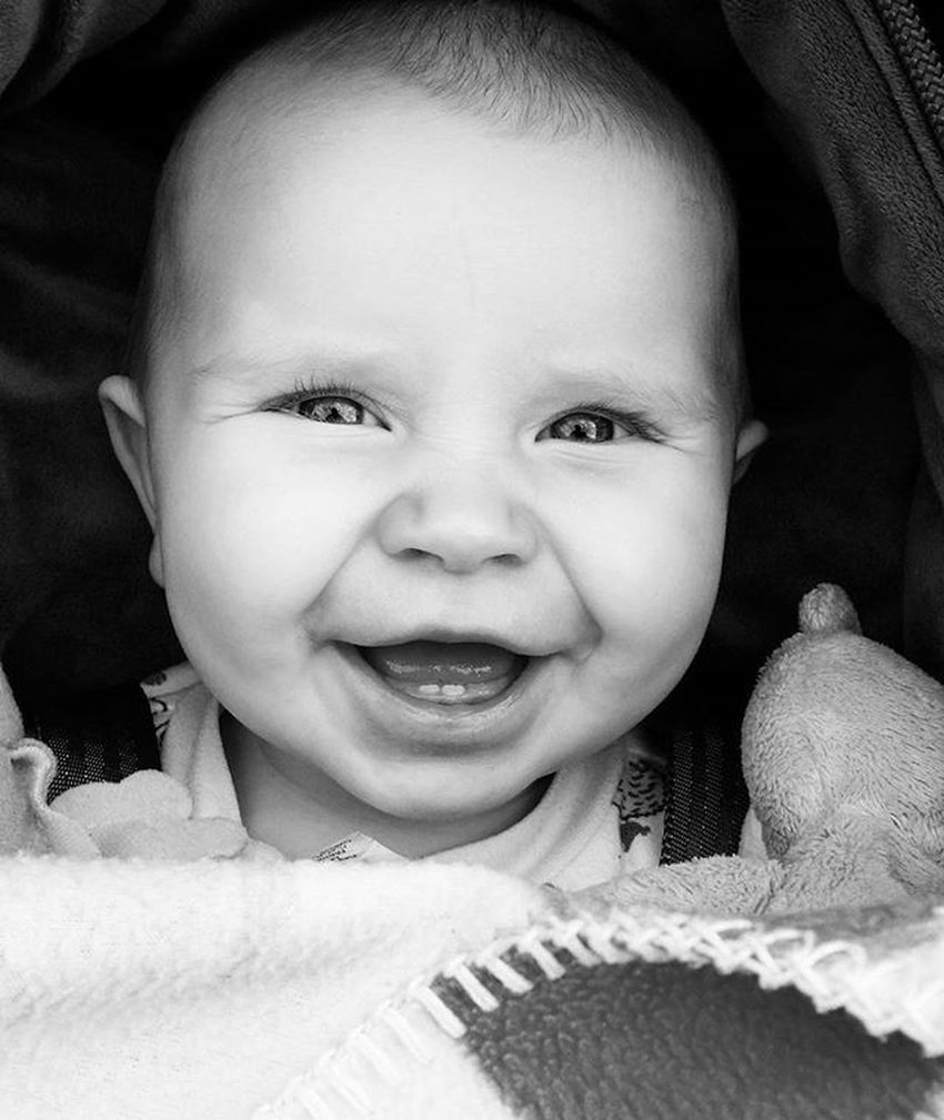 Giggly Riverbelle :) Cute Babygirl Biggrin Blackandwhite Happybaby