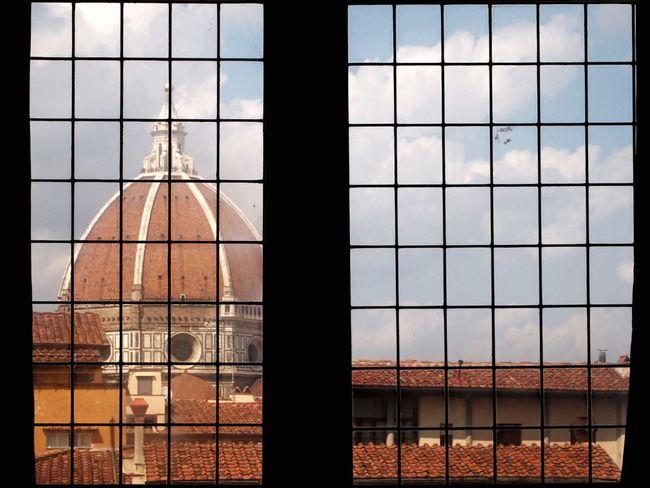 Through The Window The Duomo Florence Italy