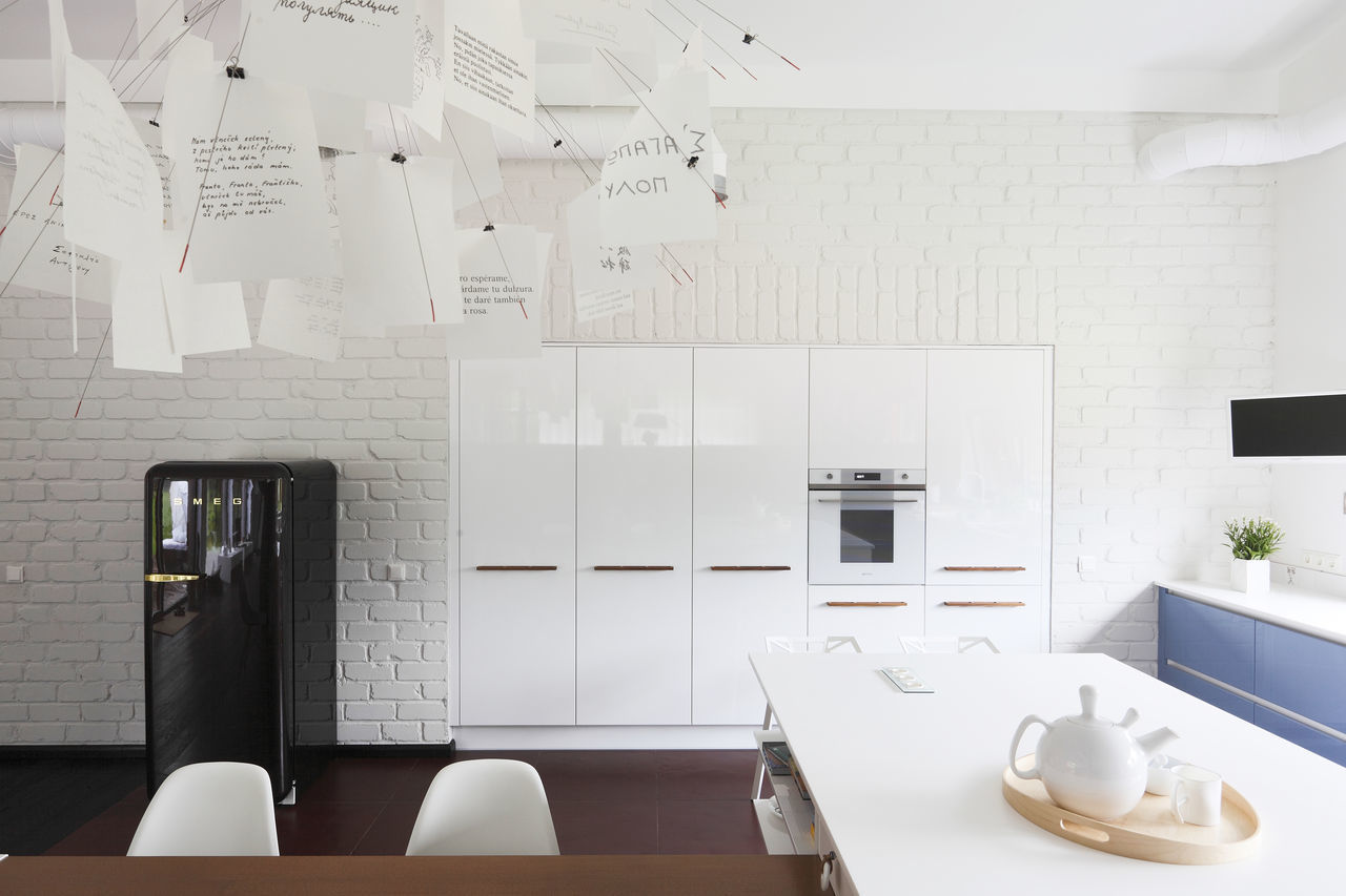 Architectural Feature Chandelier Close-up Day Domestic Room Fridge Home Home Interior Inside Interior Decorating Interior Design Kitchen Light Lighting Modern No People Oven Table Teapot White