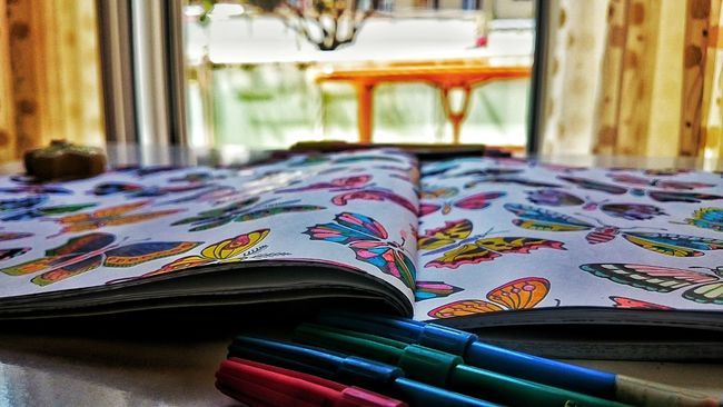 Painting Butterfly Coloring Pencils Coloring Book Colorful Taking Photos EyeEm Best Shots 😸🎨🎈
