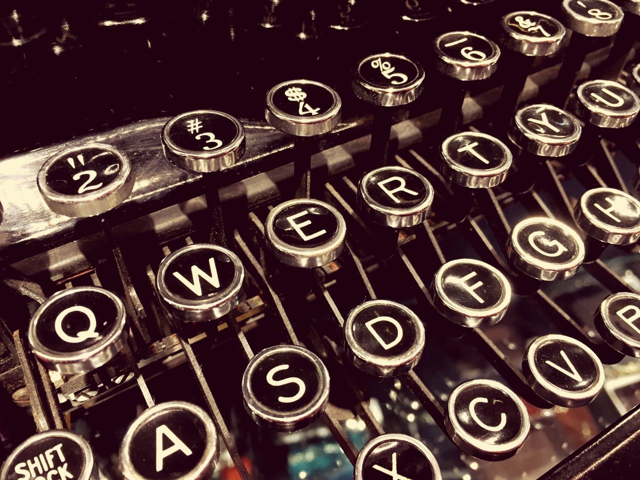 Q-W-E-R-T-Y IPhone Photography IPhone SE IPhoneography IPhone Iphonephotography Typewriter Qwerty Qwerty Keyboard Keyboard Old Vintage Retro EyeEm Gallery Capital Letter Black
