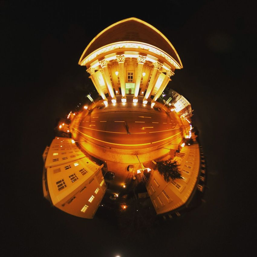 Night Arts Culture And Entertainment Business Finance And Industry Black Background No People Illuminated Close-up Outdoors RICOH THETA Miniplanet MiniPlants Miniplanete