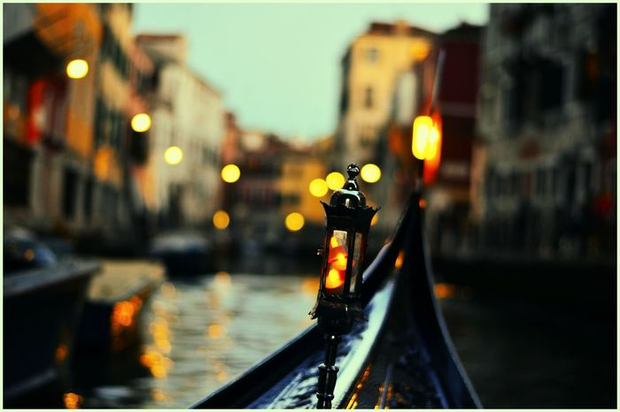 Kaushalgokarankar'sphotography Justclick Travel Destinations Travel Photography Venice, Italy Gondola - Traditional Boat Outdoors Focus On Foreground Night Water City Tourism Europe Trip