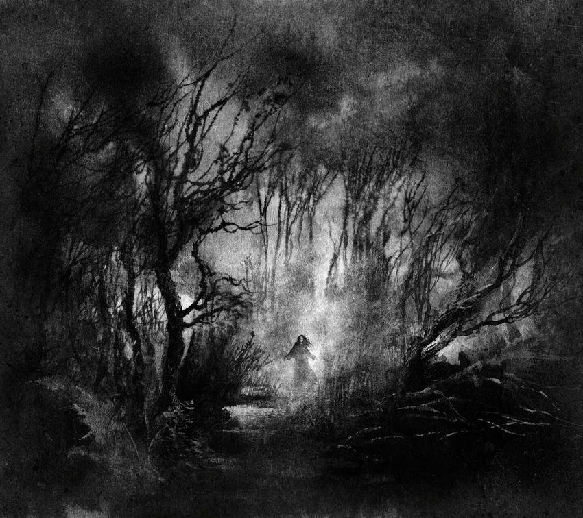 Creepy Goth Gothic Trees Forest Lostgirl Creepygirl Creepyplace Bw B&w