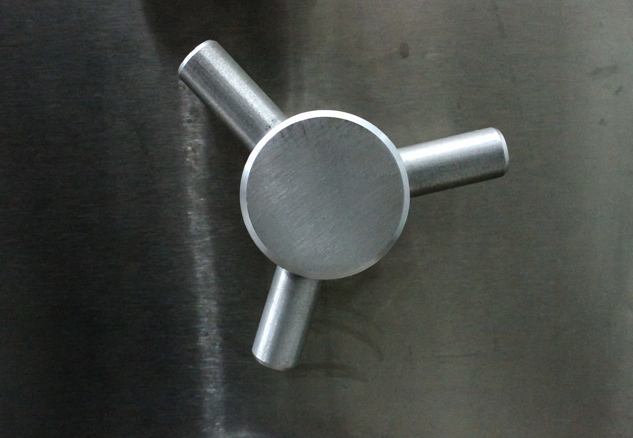 A typical silver knob of a vault containing valuable items Classified Hidden Knob Locked Secret Silver  Valuable Vault