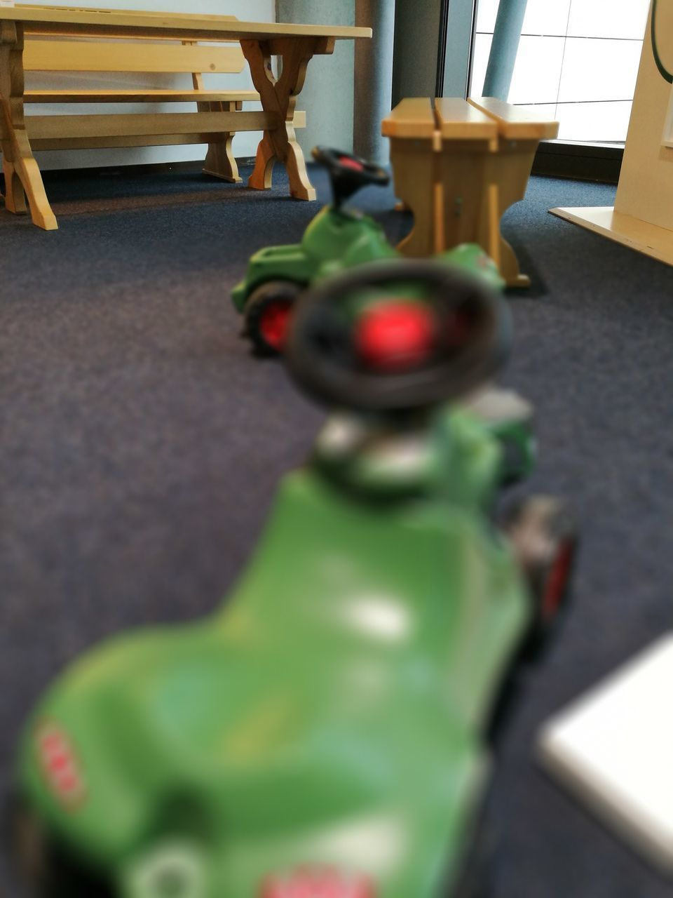 selective focus, indoors, green color, no people, table, day, close-up, technology