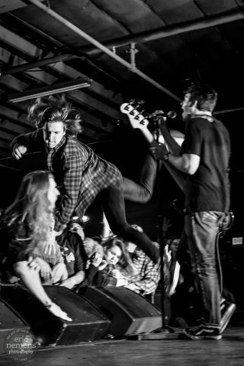 Title Fight show at the Ready Room in St. Louis. Title Fight Punk Punk Rock Stagedive Stagediving Concert Music