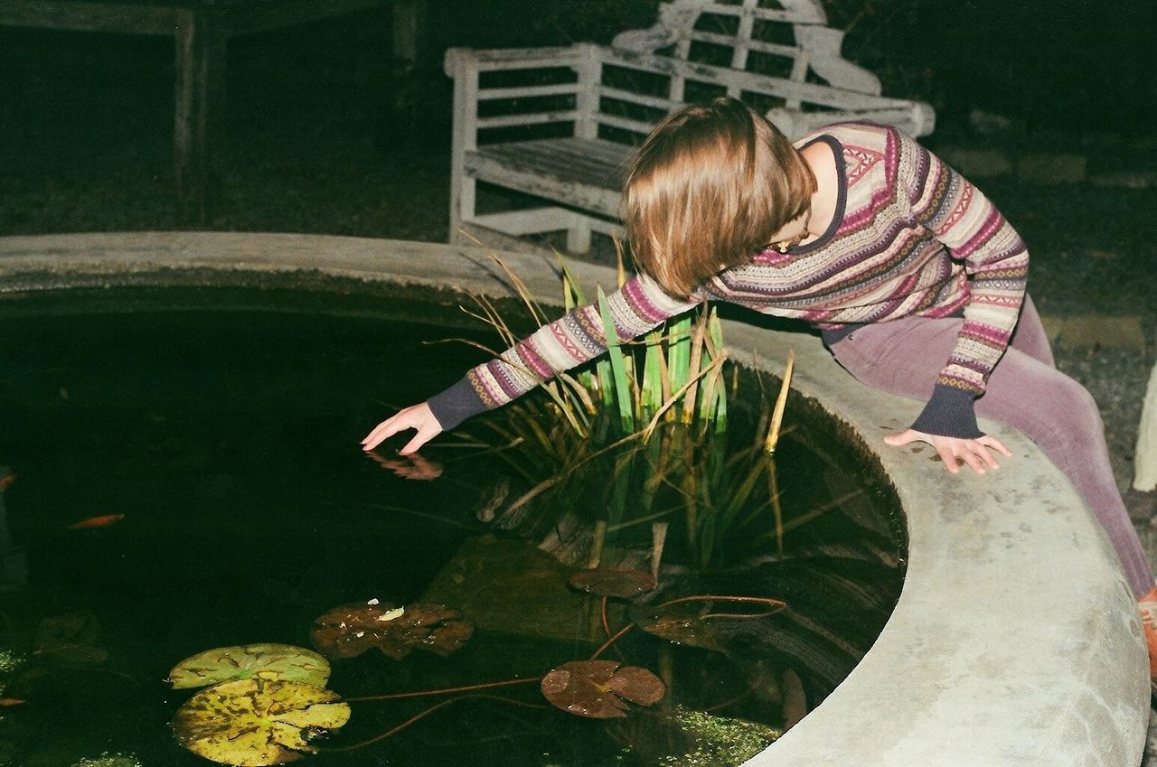 Adult Analog Analogue Photography Day Film Film Photography Flower Girl Nighr One Girl Only One Person Outdoors People Plant Water Long Goodbye The Secret Spaces The Portraitist - 2017 EyeEm Awards