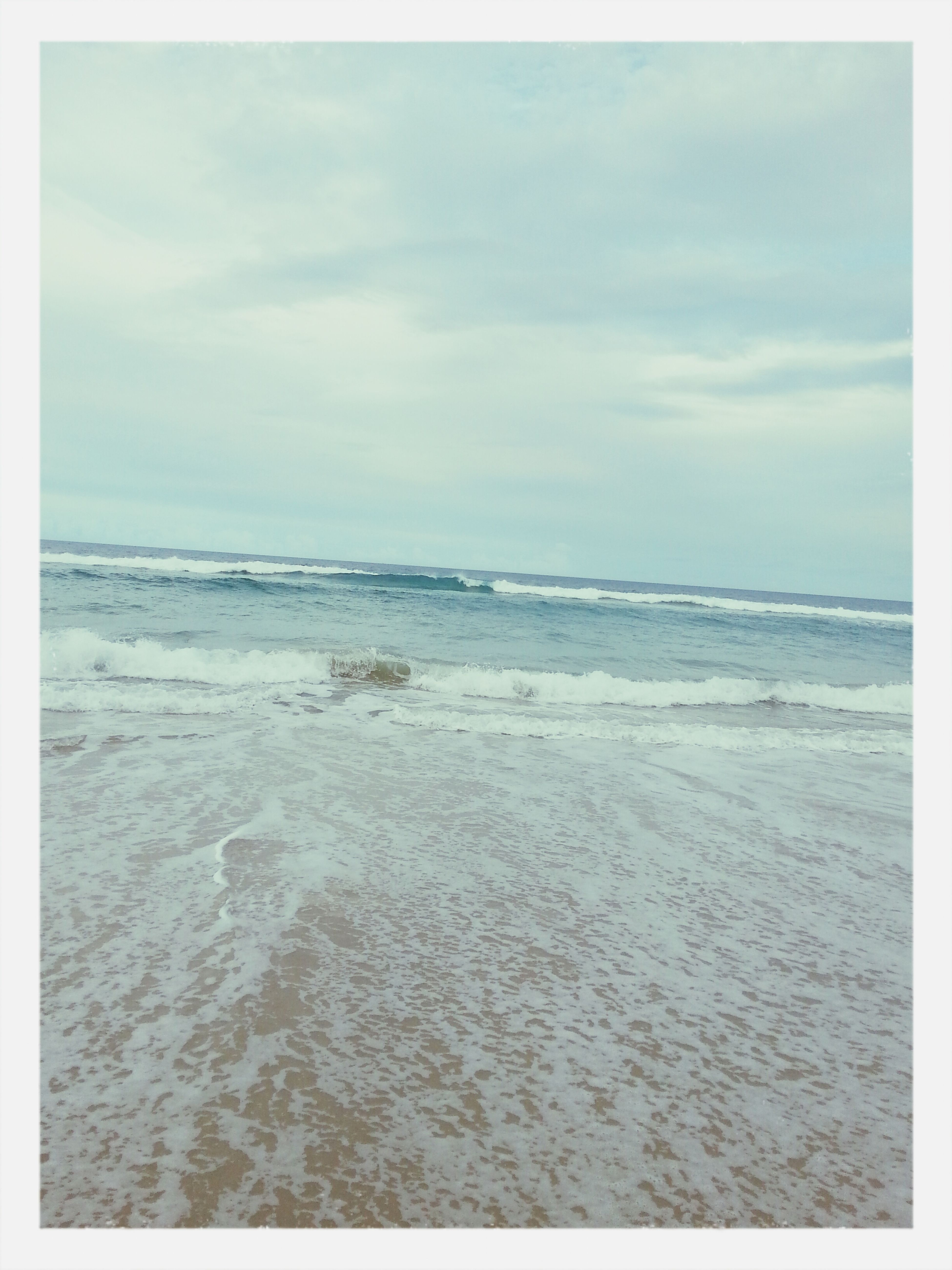 The beach was beautiful.