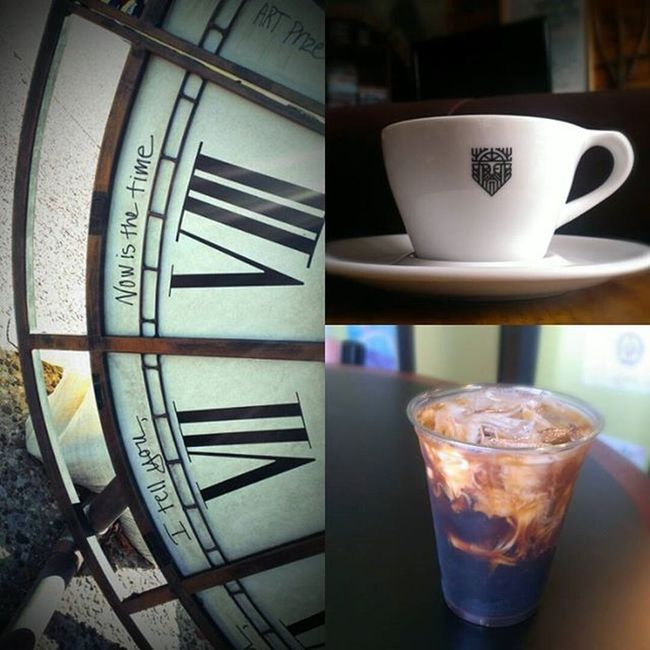 "Says it all. Whether you drink your coffee hot or cold.. ""I tell you... Now is the time""... for coffee! Okay so maybe I took that out of context just a tad bit ;) Anyhoo, Happy national coffee day to ya! Clock LastYear Atartprize Hotcoffee Icedcoffee Goodgrinds Goodcoffee Cupfromodinscafé Happynationalcoffeeday"