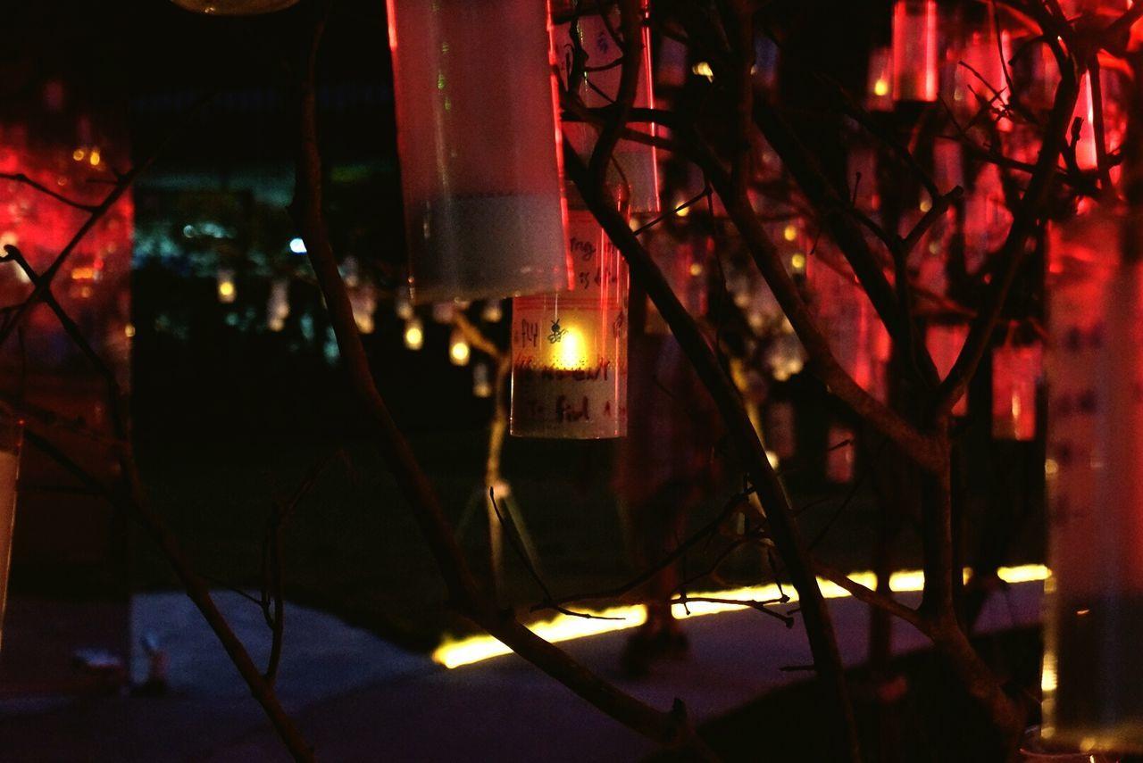 illuminated, night, indoors, red, no people, close-up