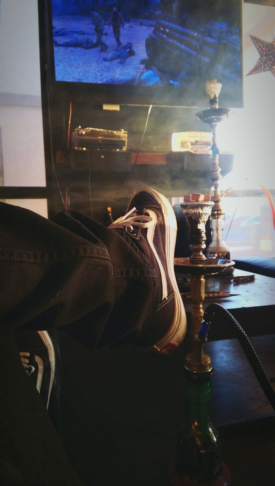 Just relaxing. Hanging Out Shisha